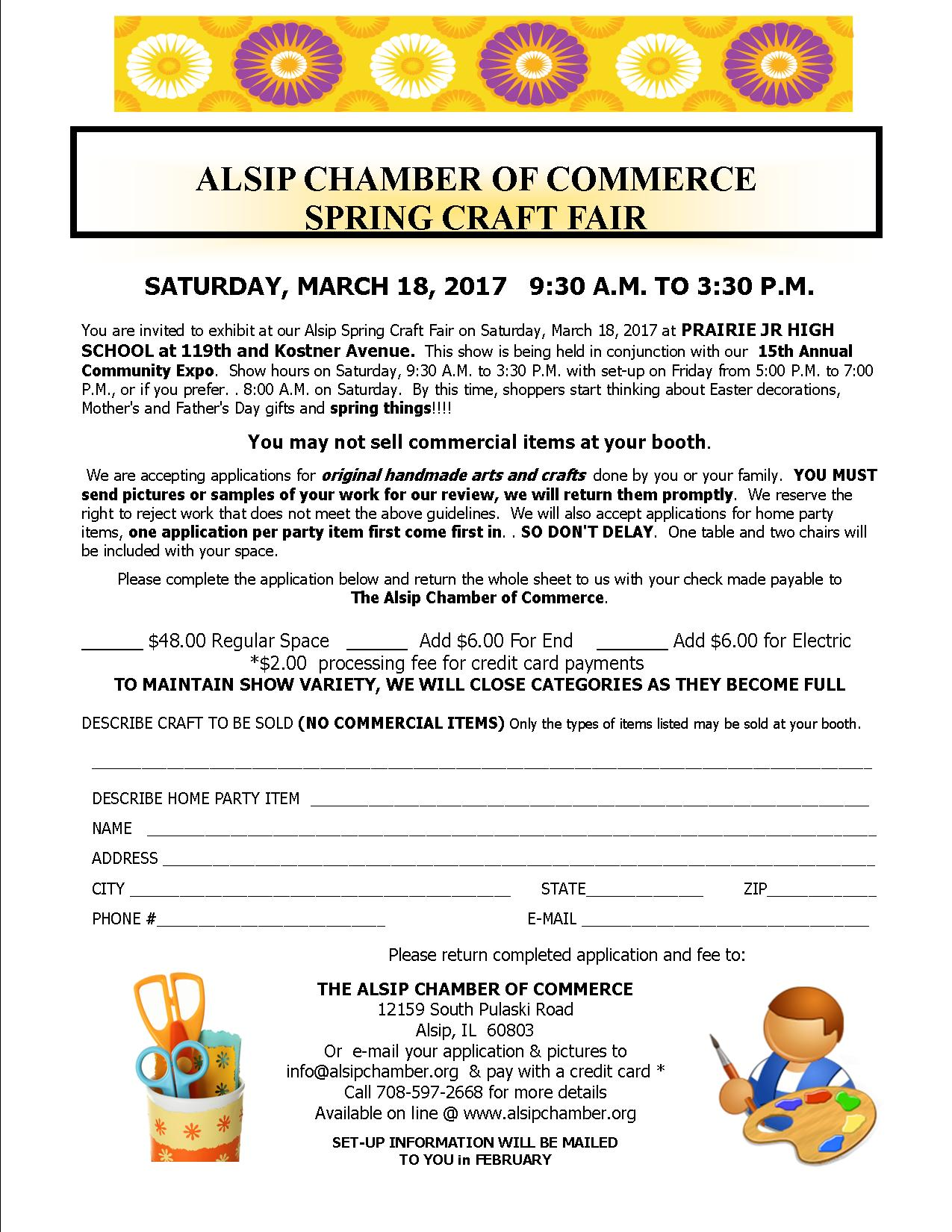 Alsip Chamber Plans Craft Show And Community Expo